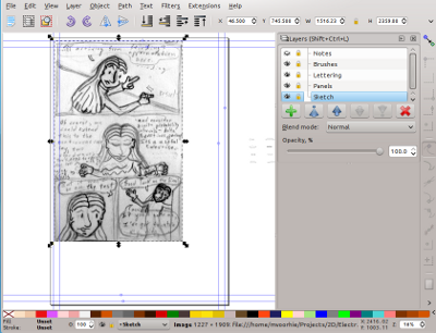 Importing a page into Inkscape